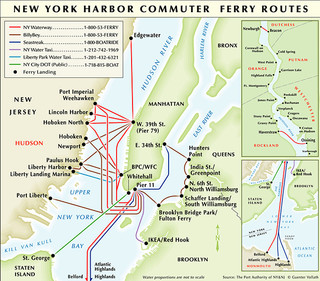 Map of New York City ferry network