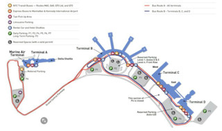 Map of LaGuardia airport & terminal (LGA)