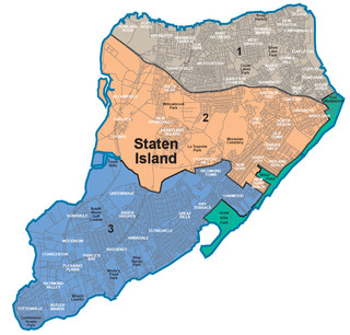 Map of Staten Island neighborhoods & quarters
