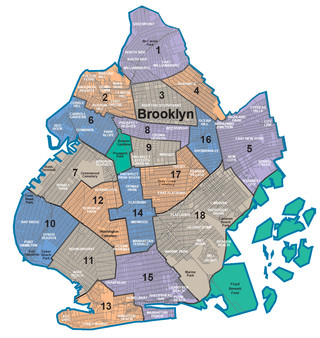 Map of Brooklyn neighborhoods & quarters