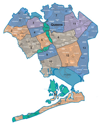 Map of Queens neighborhoods & quarters